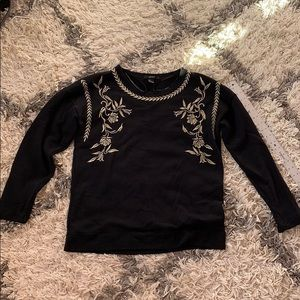Forever 21 Gold stitch detail sweater